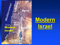 Aerial Map of Israel for PowerPoint