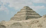 Color photo of Egyptian step pyramid, like a ziggurat, free for use.
