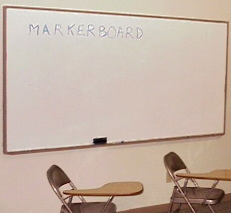 photo of hand made markerboard