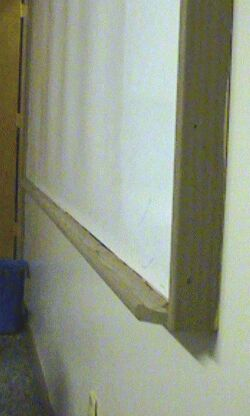 photo showing shape of ledge for markers