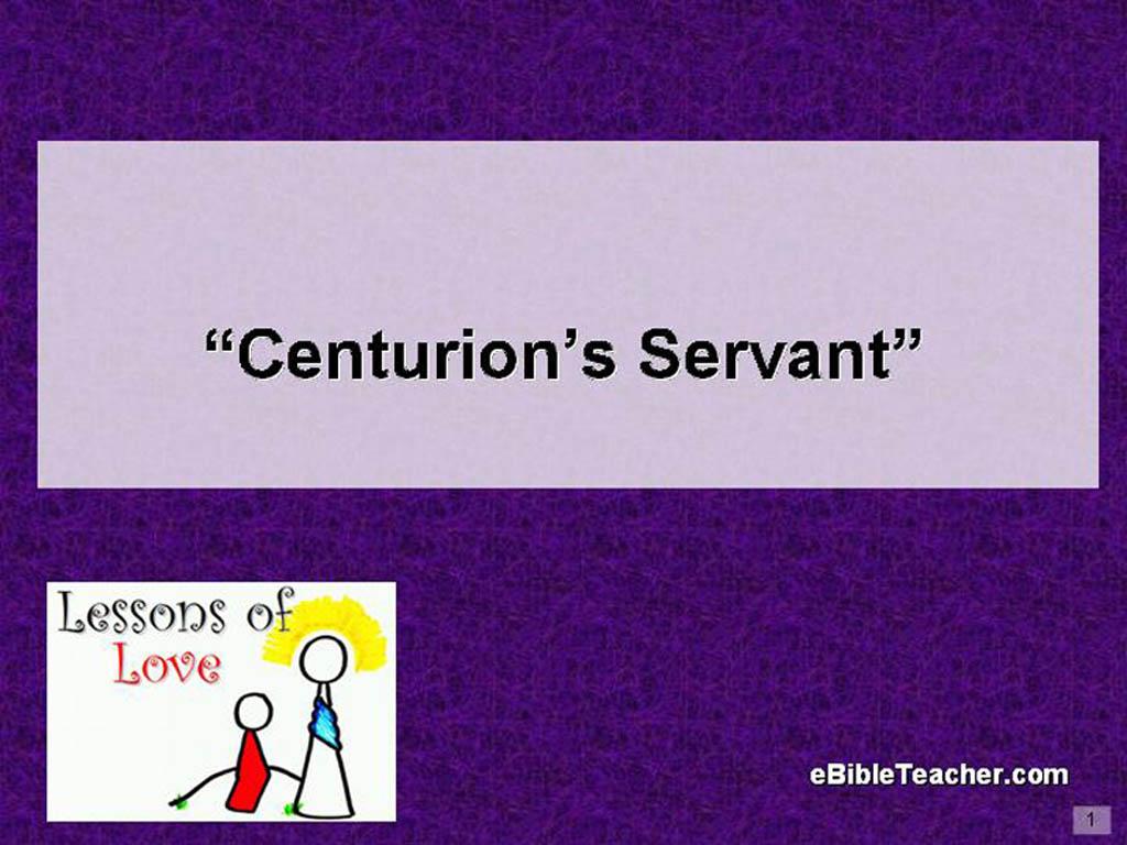 centurion u0027s servant flip chart ebibleteacher