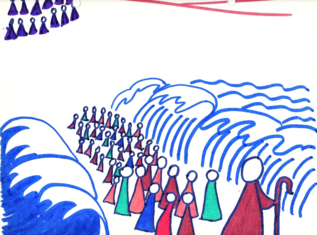 The israelites cross the red sea