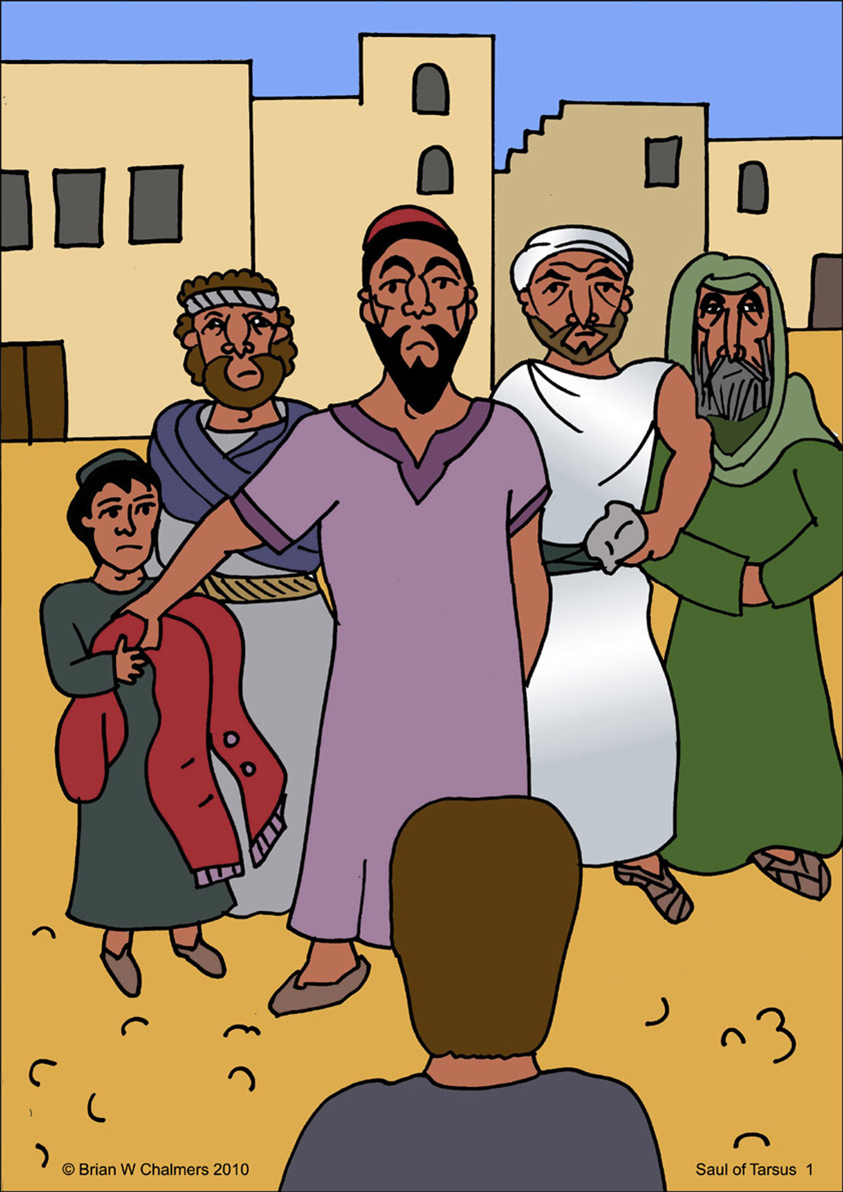Childrens coloring sheet of saul and ananias - Christians Afraid Of Persecution