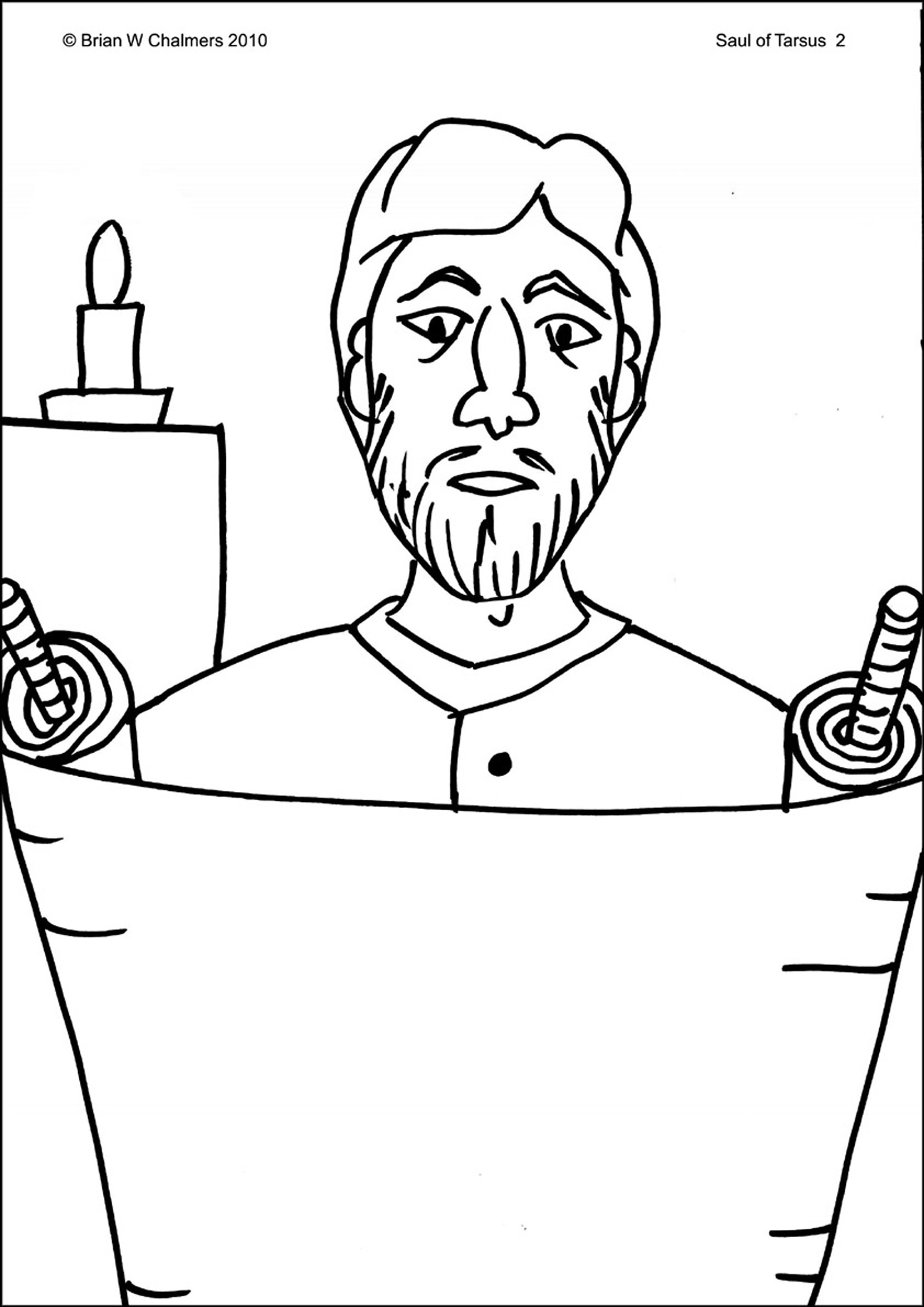 Uncategorized Paul On The Road To Damascus Coloring Page saul of tarsus flip chart ebibleteacher coloring page