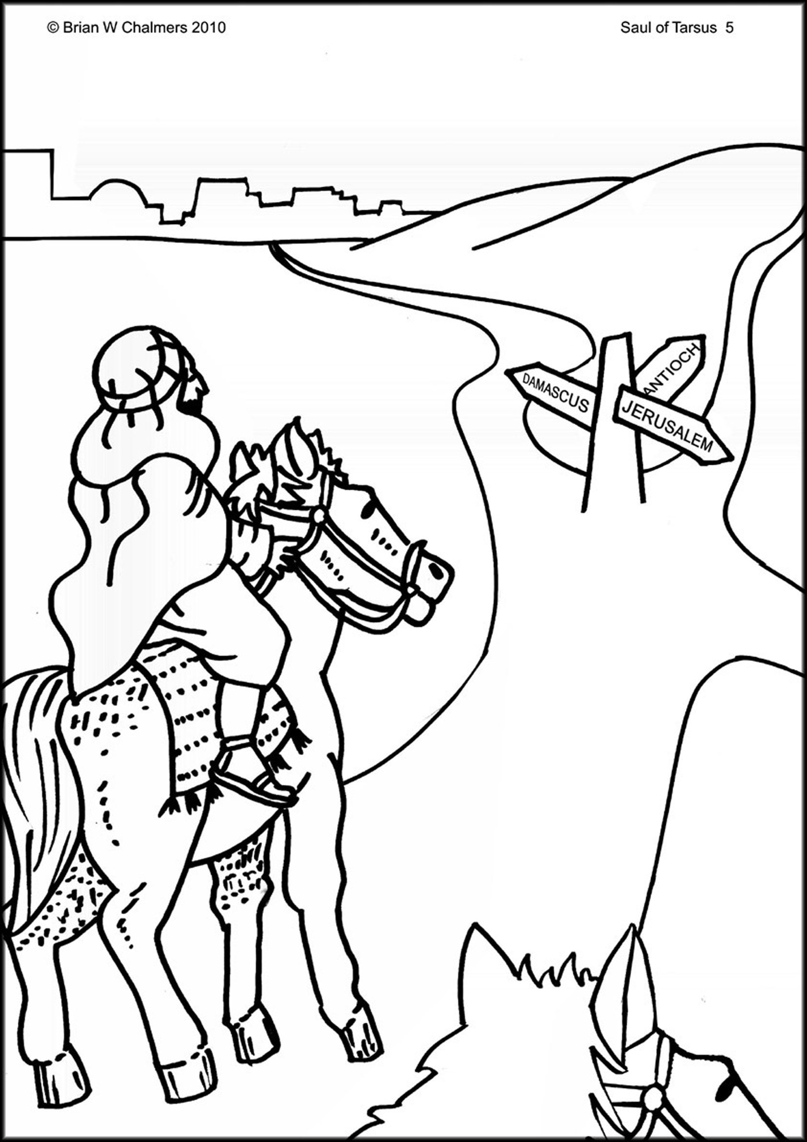 saul conversion story coloring pages - photo#10