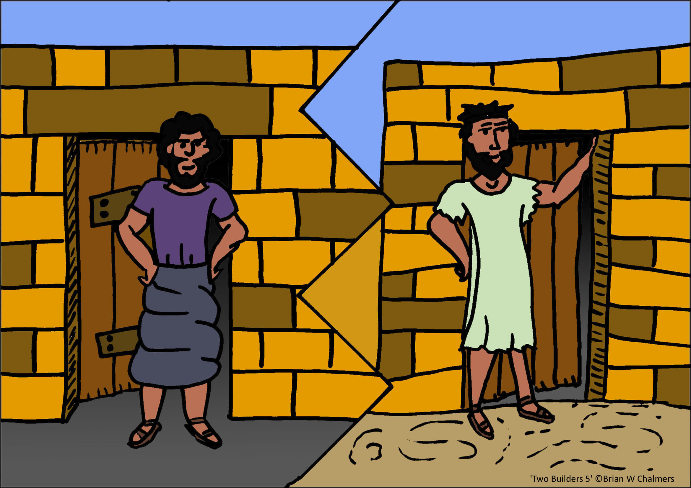 Wise man built his house upon the rock sermon -  Build His House Upon Sand The Wise And Foolish Man Houses