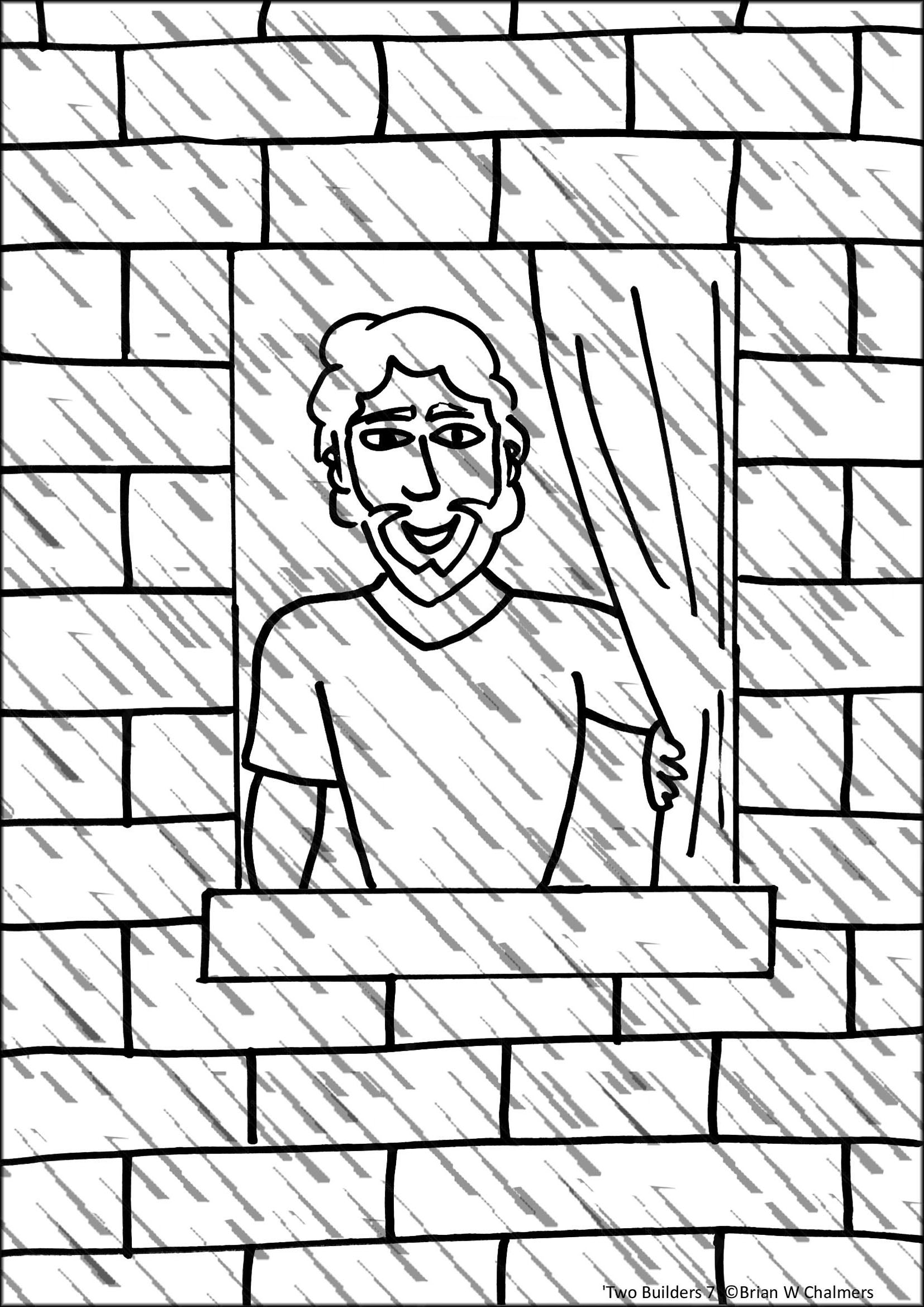 Wise man built his house upon the rock sermon - Wise Man S House Coloring Page