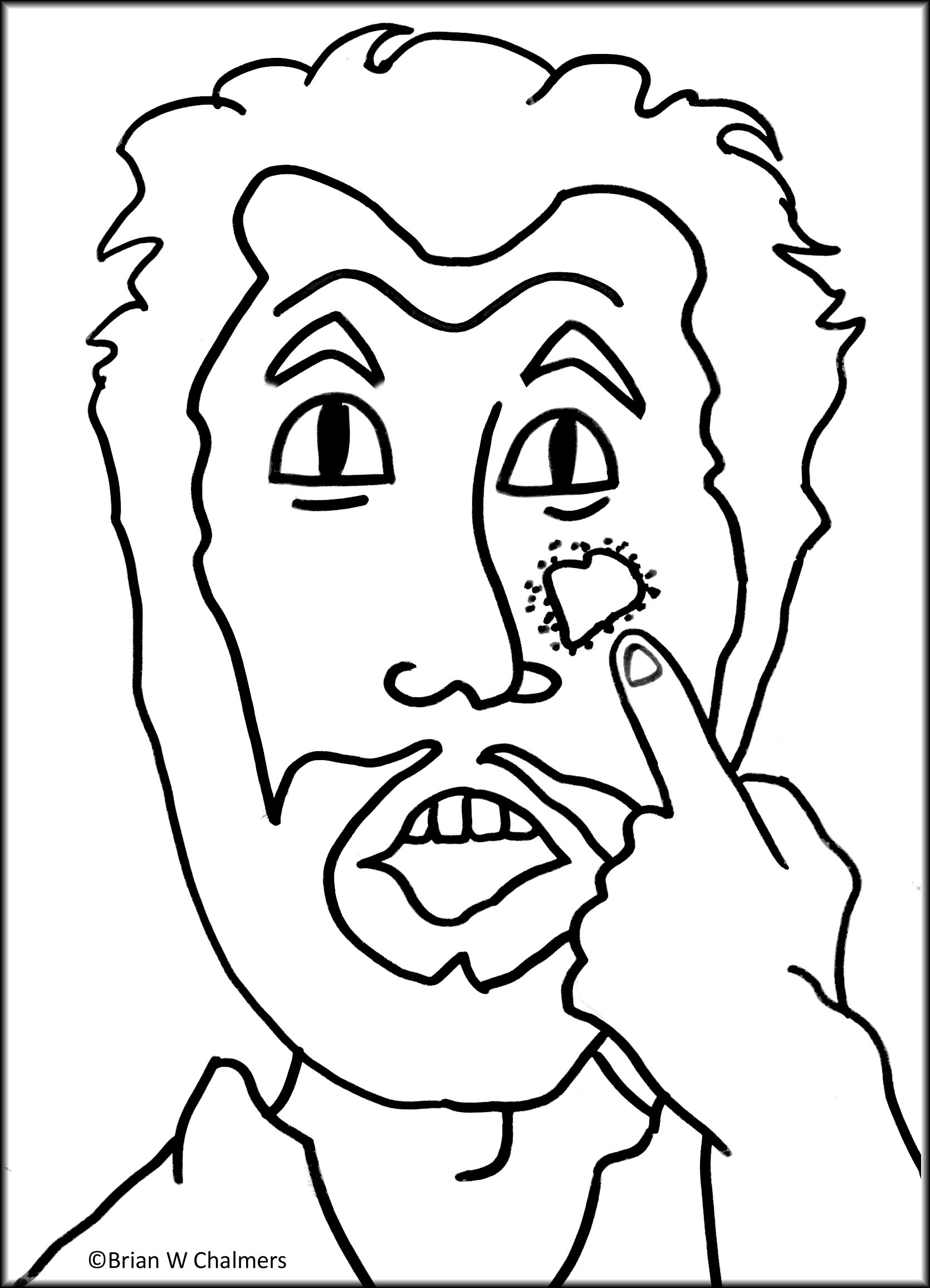 coloring pages naaman - photo#31