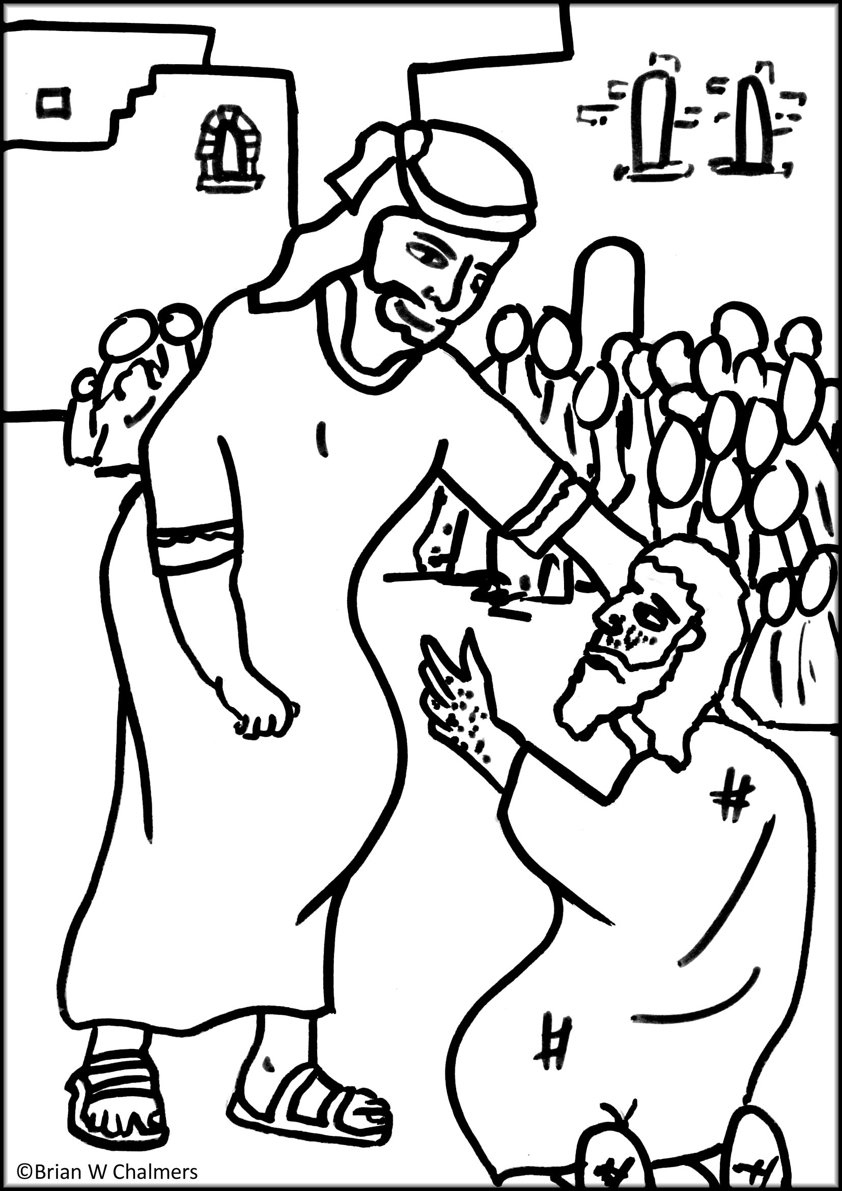 coloring pages healings of jesus - photo#35