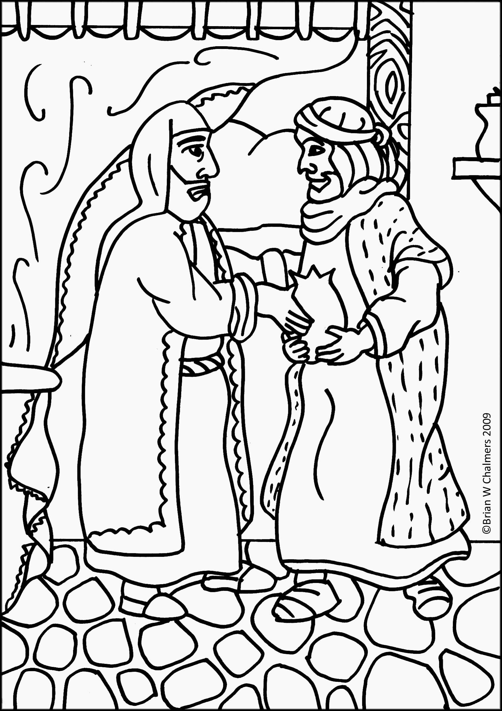 prodigal son coloring pages - photo#33