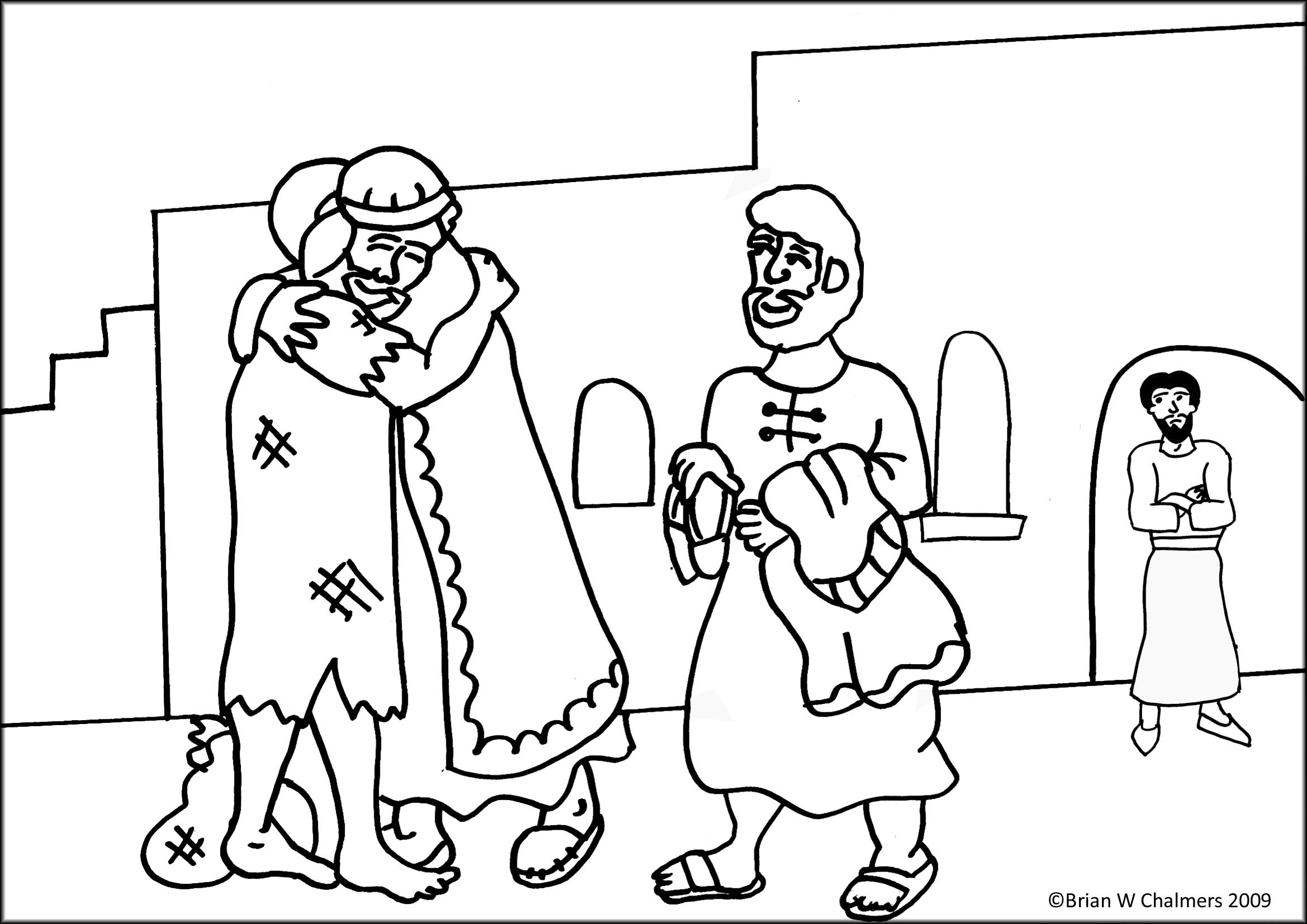 prodigal son coloring pages - photo#3