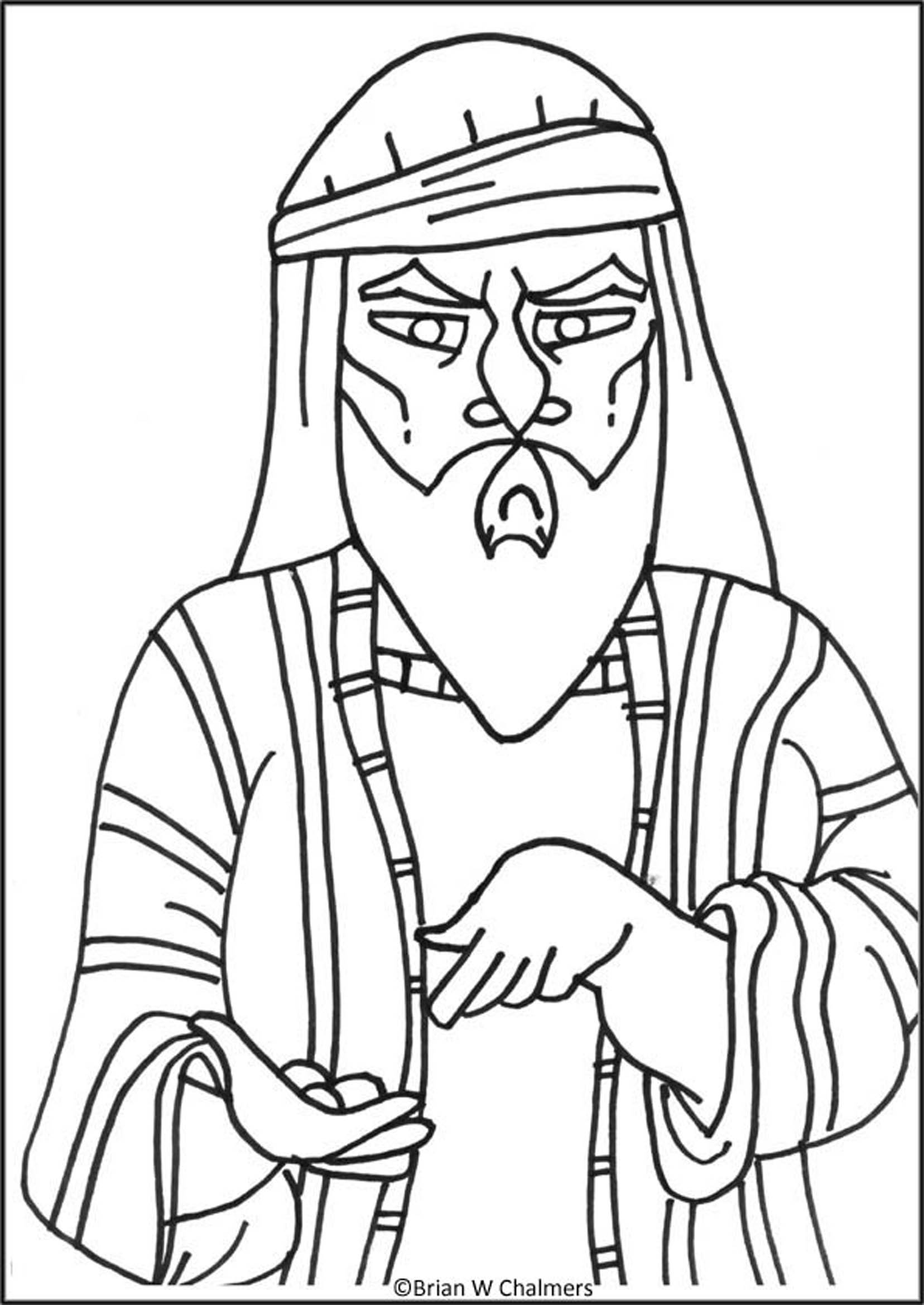Bible Coloring Pages / New Testament / Zacchaeus And Jesus : Jesus