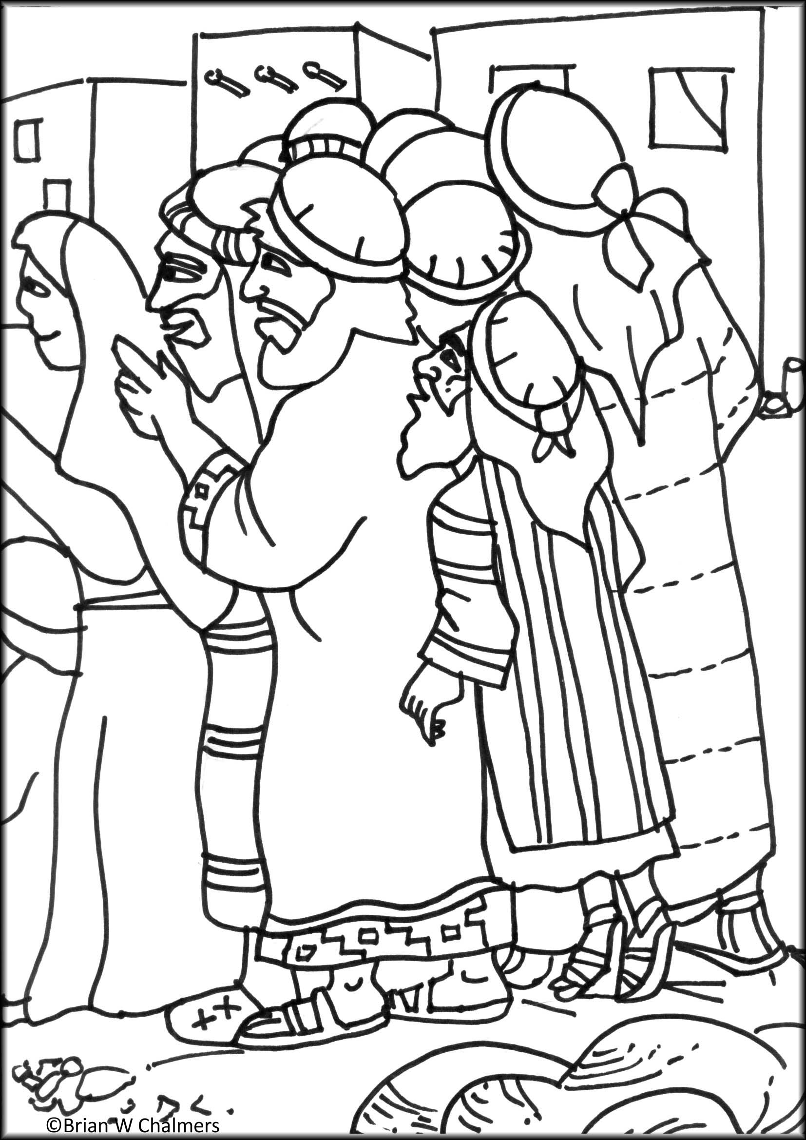 Coloring Pages For Zacchaeus : Zacchaeus flip chart ebibleteacher