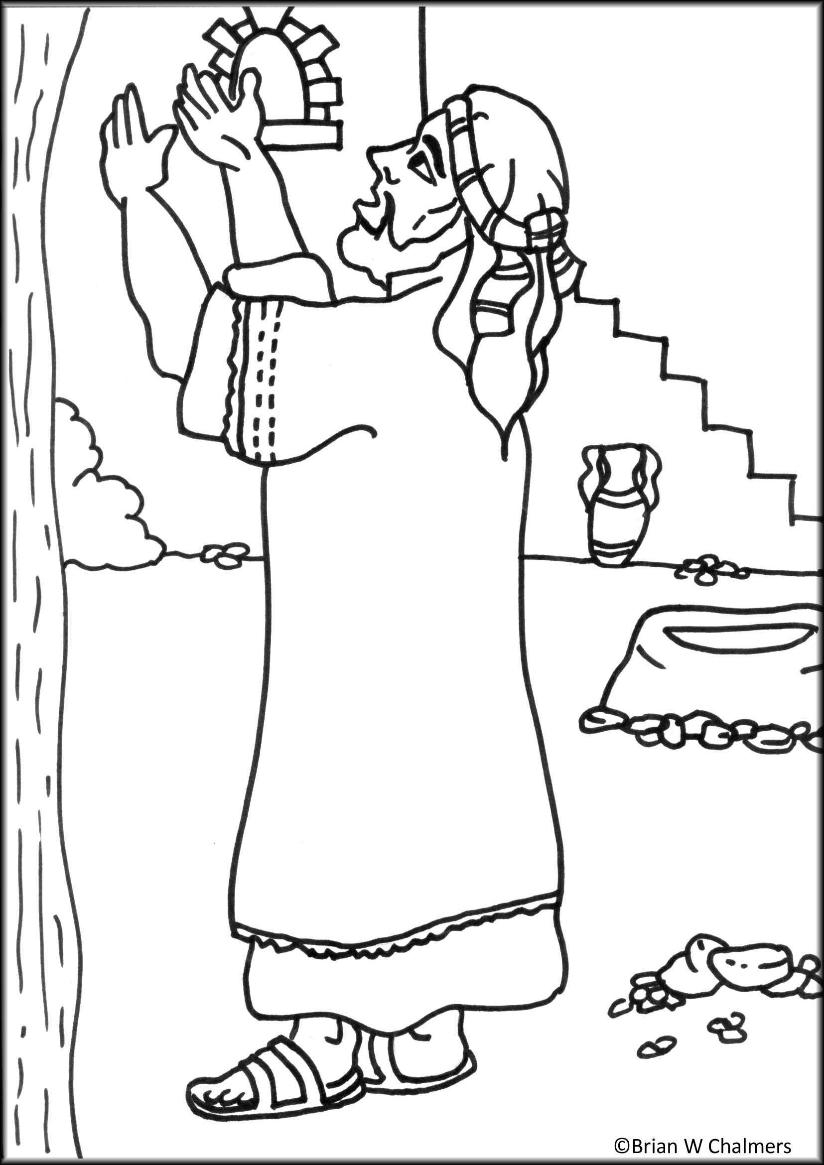 Coloring pages zacchaeus - Jesus Talking To Zacchaeus Coloring Page