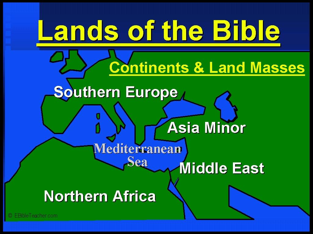New Testament Maps  eBibleTeacher