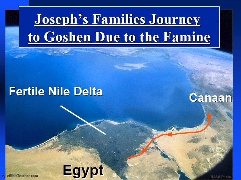 Josephs Family To Goshen EBibleTeacher - Map of egypt goshen