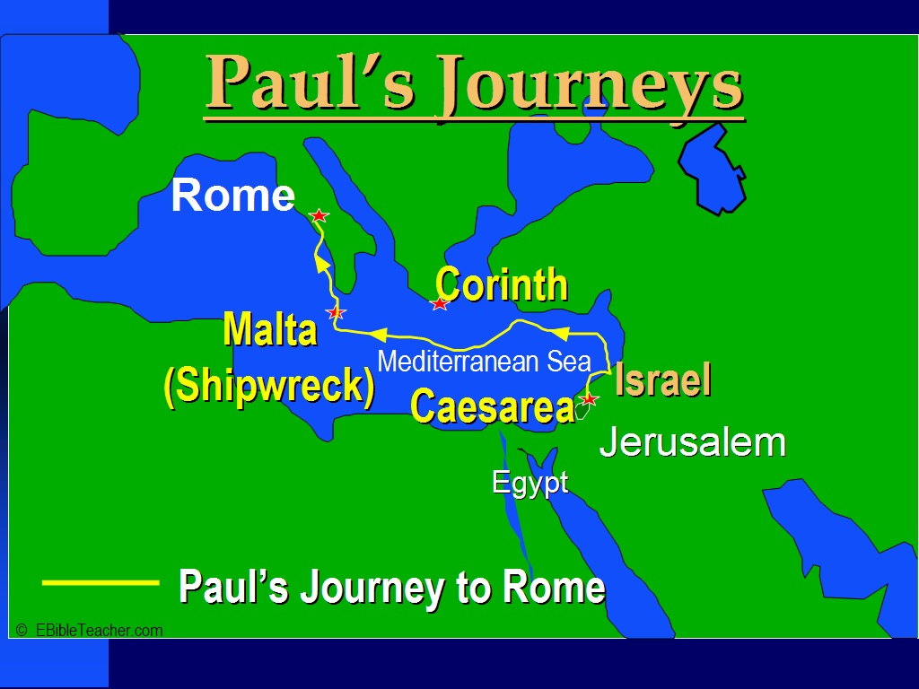 New Testament Maps EBibleTeacher - Egypt and rome map