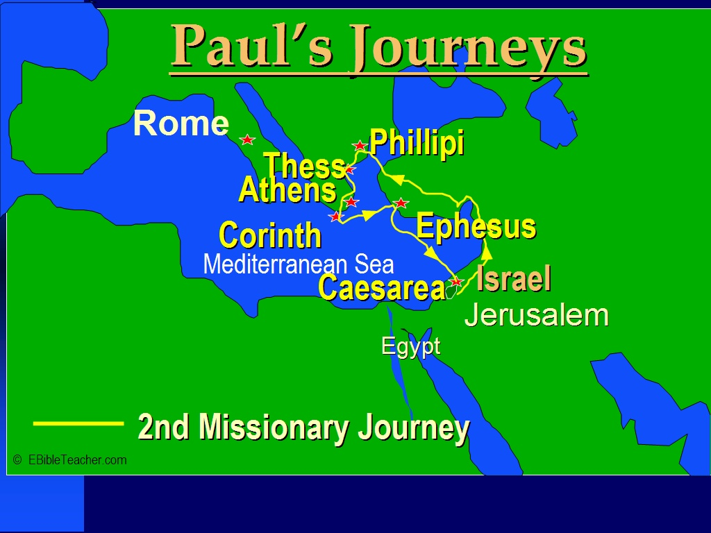 New Testament Maps – Map Of Pauls Travels
