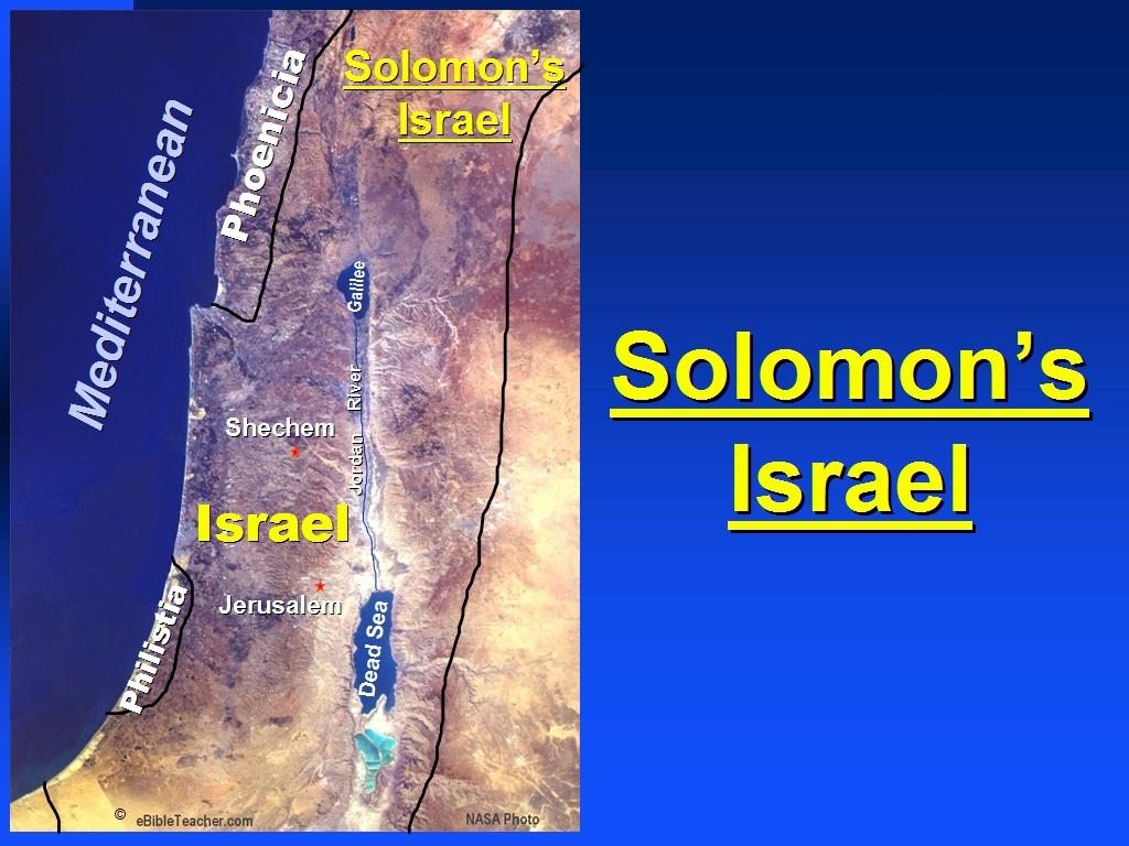 solomons israel ebibleteacher