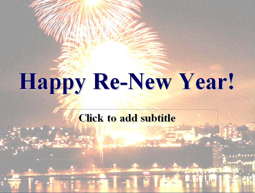 Happy Re-New Year (New Year\'s Sermon) | eBibleTeacher