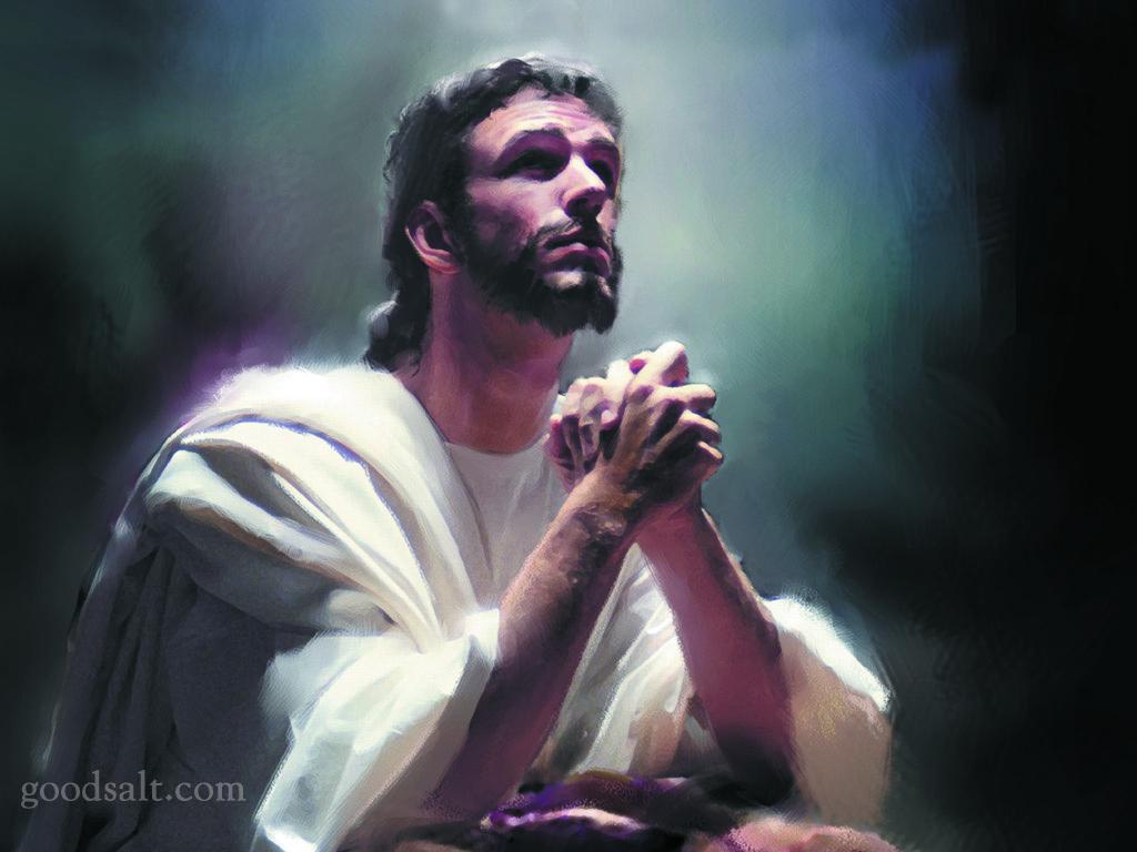 Woman Praying to Jesus Jesus Praying