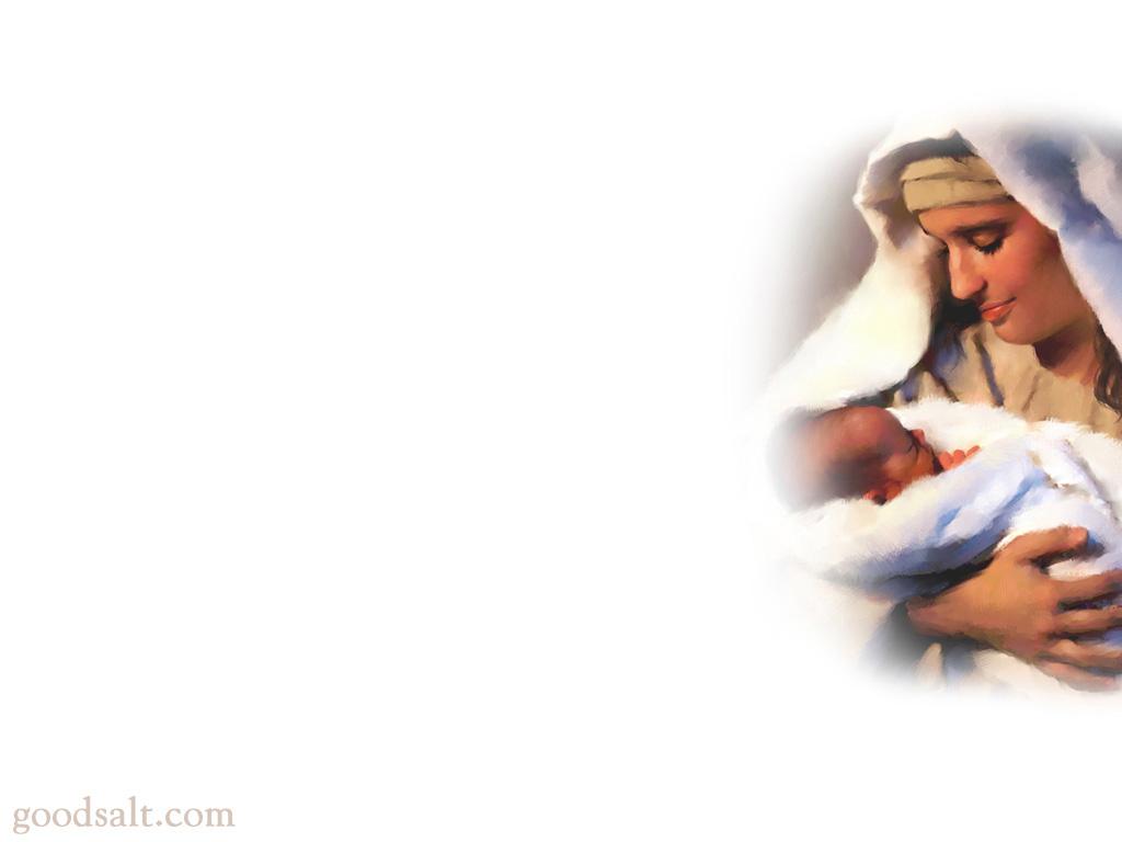 mary holding baby jesus | ebibleteacher, Powerpoint templates